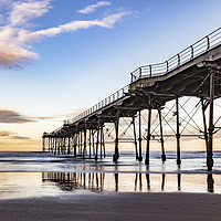 Buy canvas prints of Saltburn in the afternoon light  by keith sayer
