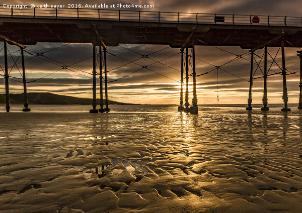 Saltburn Gold Canvas print by keith sayer