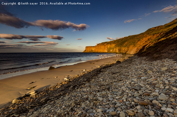 Bathed in the evening light Canvas print by keith sayer