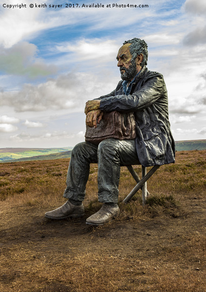 The Seated Man Canvas print by keith sayer
