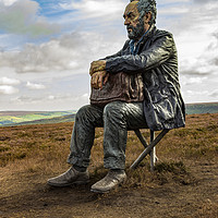 Buy canvas prints of The Seated Man by keith sayer