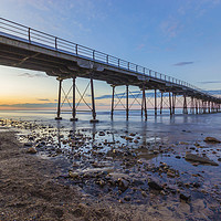 Buy canvas prints of Saltburn as the sun goes down by keith sayer