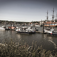 Buy canvas prints of Whitby Marina by keith sayer