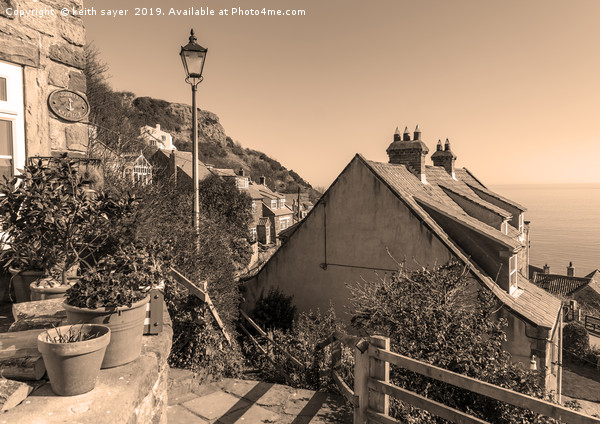 Runswick Bay Cottages (toned Image) Canvas print by keith sayer