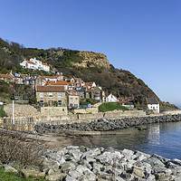 Buy canvas prints of Runswick Bay North Yorkshire by keith sayer