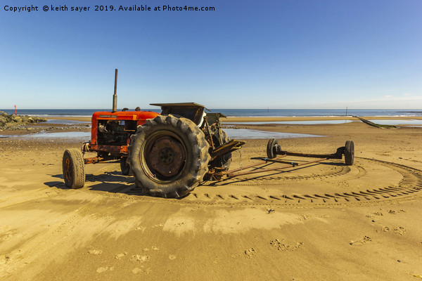 Nuffield 60 Tractor Skinningrove Canvas print by keith sayer