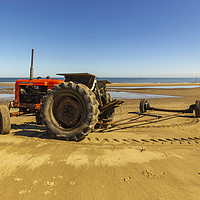 Buy canvas prints of Nuffield 60 Tractor Skinningrove by keith sayer