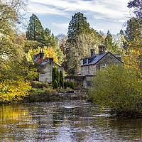 Buy canvas prints of River Esk at Egton Bridge by keith sayer