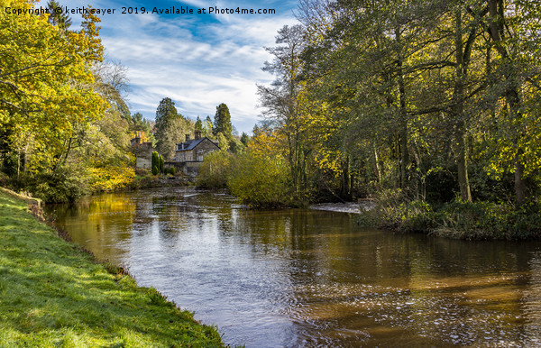 Autumn at Egton Bridge Canvas print by keith sayer