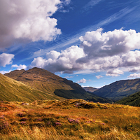 Buy canvas prints of Sunny Day at Rest and Be Thankful. Scotland by Jenny Rainbow