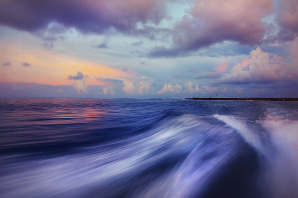 Sunset Wave. Maldives. Impressionism Canvas print by Jenny Rainbow