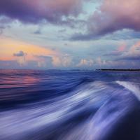 Buy canvas prints of Sunset Wave. Maldives. Impressionism by Jenny Rainbow