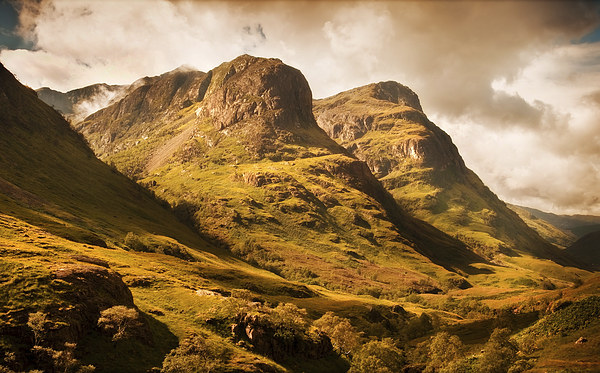 Three Sisters. Glencoe. Scotland Canvas print by Jenny Rainbow