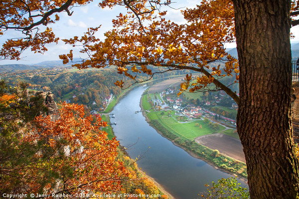 Picturesque View. Saxon Switzerland Canvas print by Jenny Rainbow