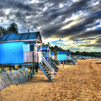 Buy canvas prints of Old English Beach Huts by chris wood