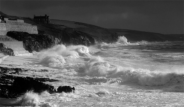 Porthleven Storm Canvas print by Steve Cowe