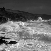 Buy canvas prints of Porthleven Storm by Steve Cowe