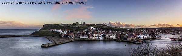 Whitby Harbour Print by richard sayer