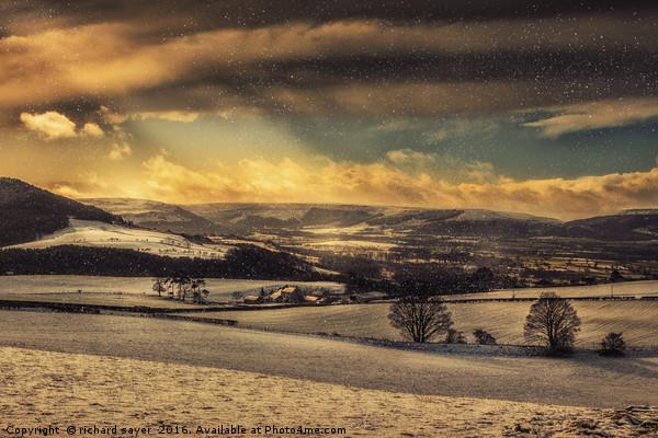 Winterscape Canvas print by richard sayer
