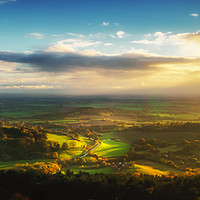 Buy canvas prints of Road to the Vale by richard sayer