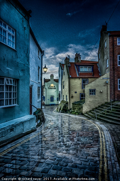 No Stopping Canvas print by richard sayer