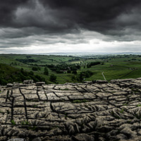 Buy canvas prints of Malham Cove Panorama by richard sayer