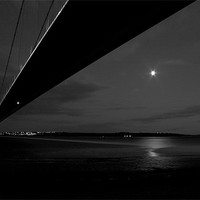 Buy canvas prints of Humber bridge by night by Leon Conway