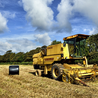 Buy canvas prints of Combine Harvester by Gary Kenyon