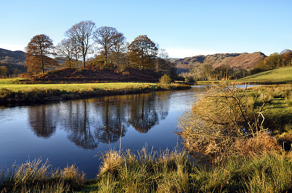 Golden Light at the River Brathay Canvas print by Gary Kenyon