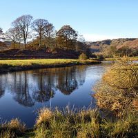 Buy canvas prints of Golden Light at the River Brathay by Gary Kenyon