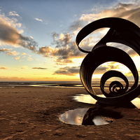 Buy canvas prints of Marys Shell Cleveleys Beach by Gary Kenyon