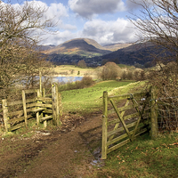 Buy canvas prints of  Gate To The Countryside Latterbarrow by Gary Kenyon