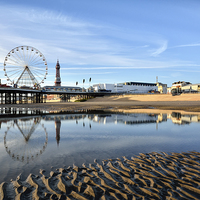 Buy canvas prints of Golden Light On Blackpool by Gary Kenyon