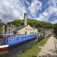 Buy canvas prints of Hebden Bridge Canal by Gary Kenyon