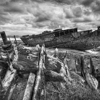 Buy canvas prints of  Decommissioned Fishing Boats by Gary Kenyon