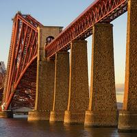 Buy canvas prints of  Fourth Railway Bridge at Sunset by Gary Kenyon