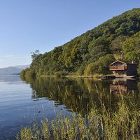 Buy canvas prints of Duke Of Portland Boathouse Ullswater by Gary Kenyon