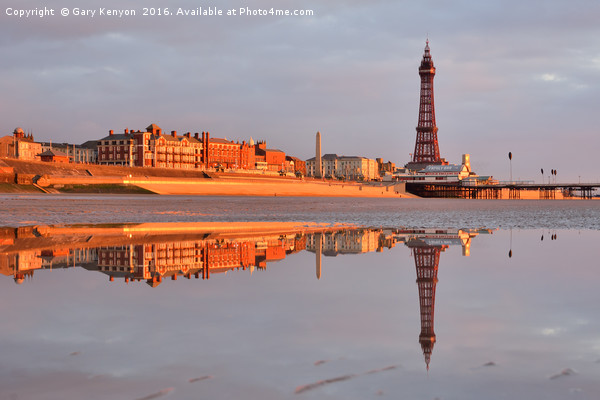 Golden Mile Reflections Blackpool Canvas print by Gary Kenyon