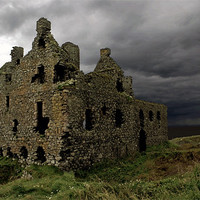 Buy canvas prints of Dunskey castle by Thanet Photos