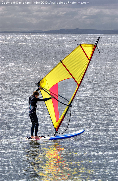 Lone windsurfer Canvas print by Thanet Photos