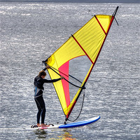 Buy canvas prints of Lone windsurfer by Thanet Photos