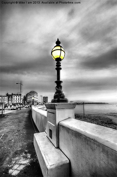 Mono Street lighting Canvas Print by Thanet Photos