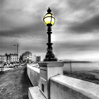 Buy canvas prints of Mono Street lighting by Thanet Photos