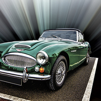 Buy canvas prints of Austin Healey by Thanet Photos