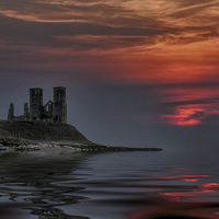Buy canvas prints of Reculver castle sunset by Thanet Photos