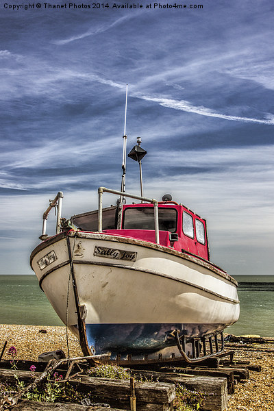 Boat on the beach Canvas print by Thanet Photos