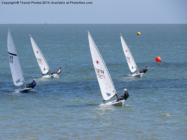 Dingy race Canvas print by Thanet Photos