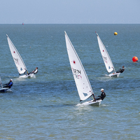 Buy canvas prints of Dingy race by Thanet Photos