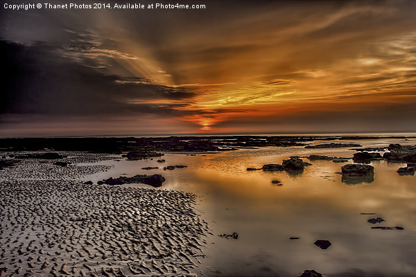 Beach Sunset Canvas print by Thanet Photos
