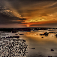 Buy canvas prints of  Beach Sunset by Thanet Photos